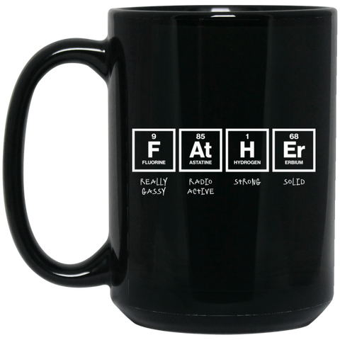 Father Elements Black Mugs