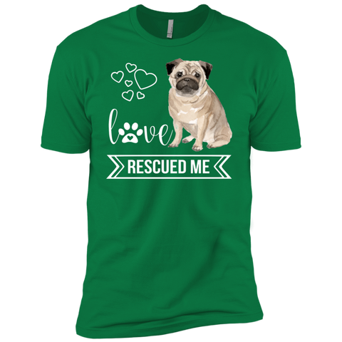 Pug Love Rescued Me Short Sleeve T-Shirt