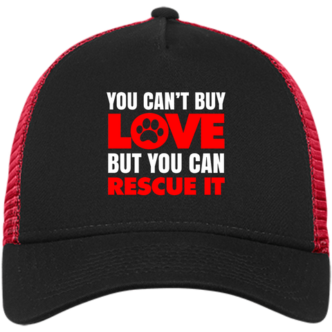 """You Can't Buy Love"" Embroidered Trucker Cap"