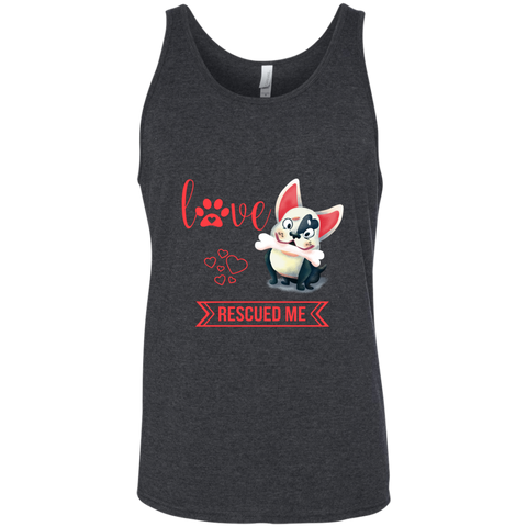 Love Rescued Me 3480 Bella + Canvas Unisex Tank