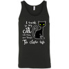 Image of I work so my cat...3480 Bella + Canvas Unisex Tank