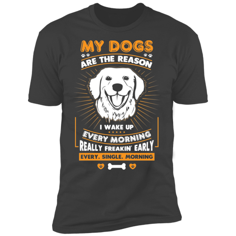 My Dogs Are the Reason  Short Sleeve T-Shirt - Sweet Dragon Mama