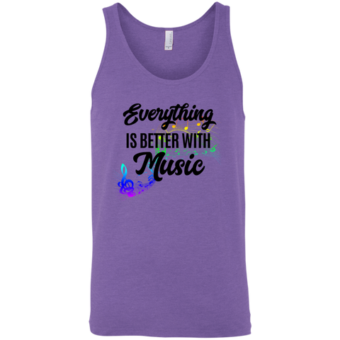 Everything Better with Music 3480 Bella + Canvas Unisex Tank