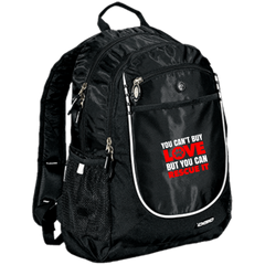 You Can't Buy Love Rugged Bookbag