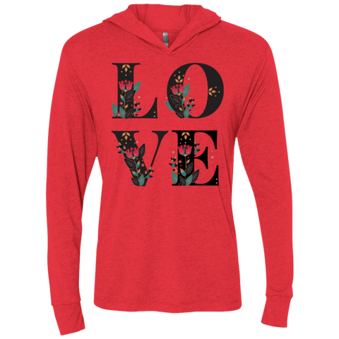Floral Love Next Level Unisex Triblend LS Hooded T-Shirt