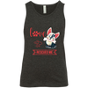 Image of Love Rescued Me 3480Y Bella + Canvas Youth Jersey Tank