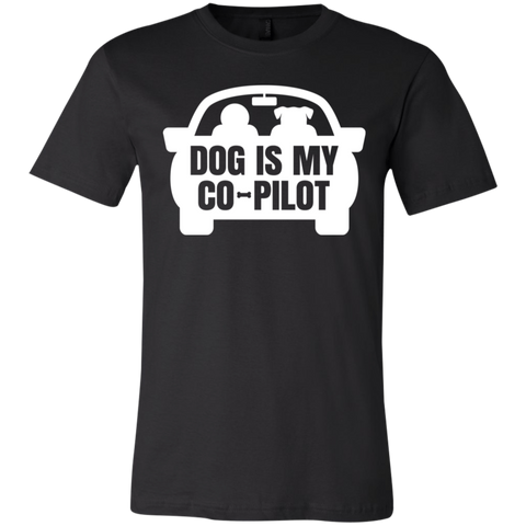 Dog is My CoPilot 3001C Bella + Canvas Unisex Jersey Short-Sleeve T-Shirt