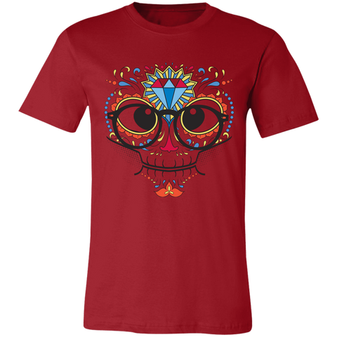 Nerdy Sugar Skull Bella Unisex  Short-Sleeve T-Shirt