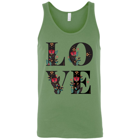 Floral Love 3480 Bella + Canvas Unisex Tank - Sweet Dragon Mama