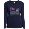 Image of Glam-Ma Sport-Teck Ladies' LS Performance V-Neck T-Shirt