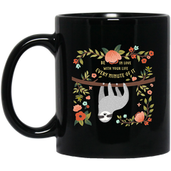 Be In Love with Your Life 11 oz. Black Mug