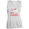 Image of Love Rescued Me-Bull Terrier Sport-Tek Ladies'  V-Neck