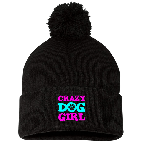 Crazy Dog Girl SP15 Sportsman Pom Pom Knit Cap