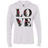 Image of Floral Love Next Level Unisex Triblend LS Hooded T-Shirt