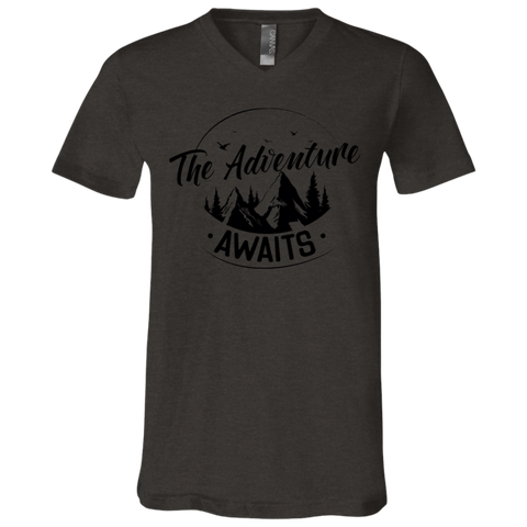 Adventure Awaits 3005 Bella + Canvas Unisex Jersey SS V-Neck T-Shirt