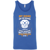 Image of My Dogs Are the Reason..Bella Unisex Tank - Sweet Dragon Mama