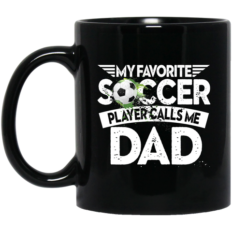 Favorite Soccer Player Black Mugs