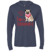 Image of Love Rescued Me-Pug Unisex LS Hooded T-Shirt