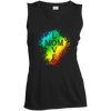 Image of Love Mom-Sport-Tek Ladies' Sleeveless V-Neck