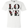 Image of Floral Love 3001C Bella + Canvas Unisex Jersey Short-Sleeve T-Shirt