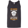 Image of My Dogs Are the Reason..Bella Unisex Tank