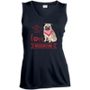 Image of Love Rescued Me-Pug Sport-Tek Ladies V-Neck