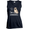 Image of Pug Love Rescued Me Sleeveless Moisture Absorbing V-Neck