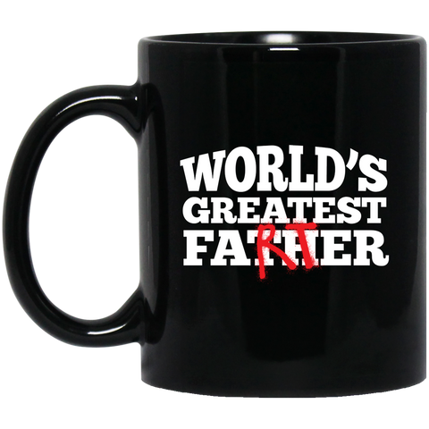 World's Greatest Father (Farter) Black Mugs