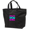 Image of Crazy Dog Girl Port & Co. All Purpose Tote Bag