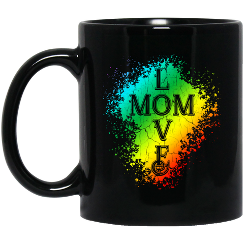 Love Mom Black Mugs