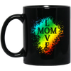 Image of Love Mom Black Mugs