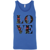 Image of Floral Love 3480 Bella + Canvas Unisex Tank