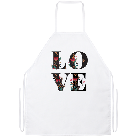 Floral Love Apron - Sweet Dragon Mama