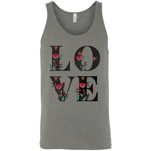 Floral Love 3480 Bella + Canvas Unisex Tank