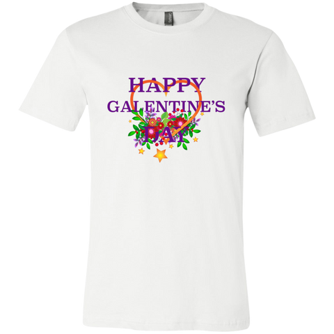 Happy Galentine's 3001C Bella + Canvas Unisex Jersey Short-Sleeve T-Shirt - Sweet Dragon Mama