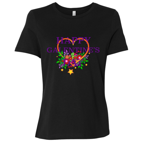Happy Galentine's Ladies' Relaxed Jersey Short-Sleeve T-Shirt
