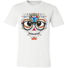 Image of Nerdy Sugar Skull Bella Unisex  Short-Sleeve T-Shirt