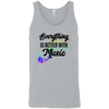 Image of Everything Better with Music 3480 Bella + Canvas Unisex Tank