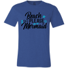 Image of Beach Please Mermaid 3001C Bella + Canvas Unisex Jersey Short-Sleeve T-Shirt