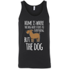 Image of Home is Where the Dog Hair 3480 Bella + Canvas Unisex Tank