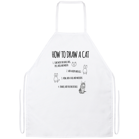 How to Draw Cat Apron