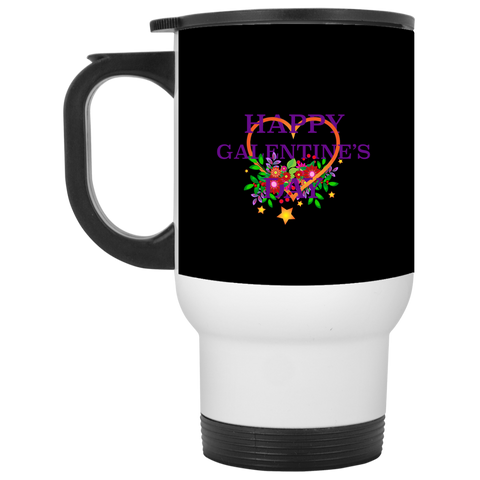 Happy Galentine's White Travel Mug