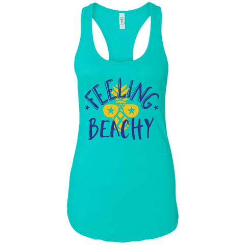 Feeling Beachy Next Level Ladies Racerback Tank