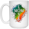 "Image of ""Love Mom"" White Mugs"