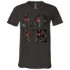 Image of Floral Love 3005 Bella + Canvas Unisex Jersey SS V-Neck T-Shirt