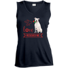 Image of Love Rescued Me-Bull Terrier Sport-Tek Ladies'  V-Neck - Sweet Dragon Mama