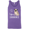 Image of Pug Love Rescued Me Unisex Tank