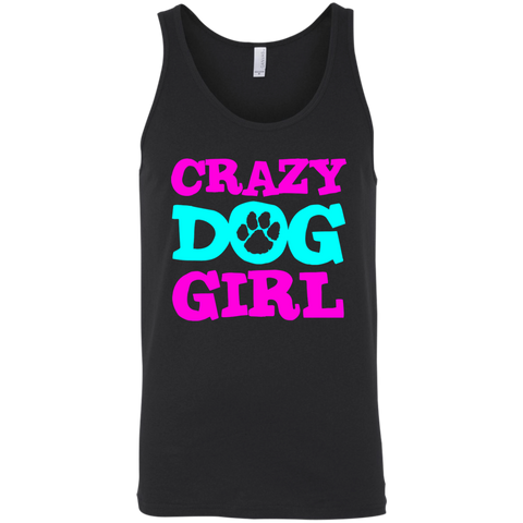 Crazy Dog Girl 3480 Bella + Canvas Unisex Tank