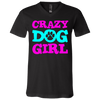 Image of Crazy Dog Girl 3005 Bella + Canvas Unisex Jersey SS V-Neck T-Shirt