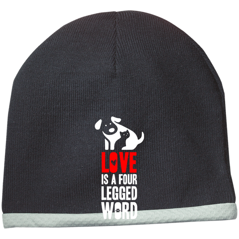 Love is a Four Legged Word Sport-Tek Performance Knit Cap